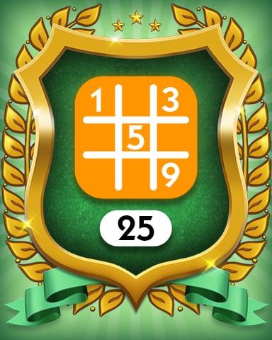 Medium 25 Badge - MONOPOLY Sudoku