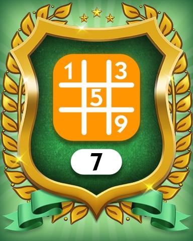 Medium 7 Badge - MONOPOLY Sudoku