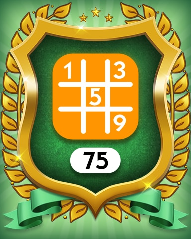 Medium 75 Badge - MONOPOLY Sudoku