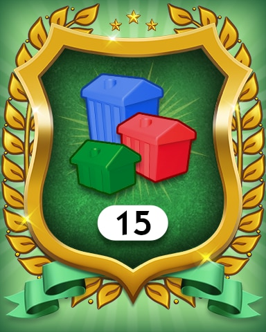 Property Investment 15 Badge - MONOPOLY Sudoku