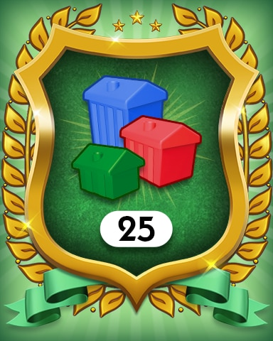 Property Investment 25 Badge - MONOPOLY Sudoku