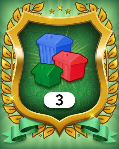 Property Investment 3 Badge - MONOPOLY Sudoku
