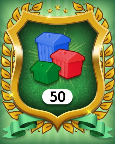 Property Investment 50 Badge - MONOPOLY Sudoku