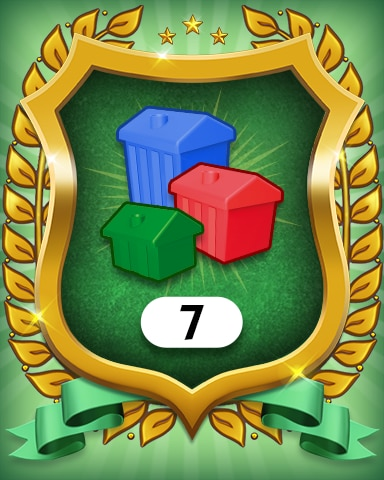 Property Investment 7 Badge - MONOPOLY Sudoku