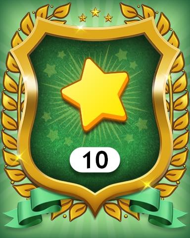 Stars 10 Badge - MONOPOLY Sudoku