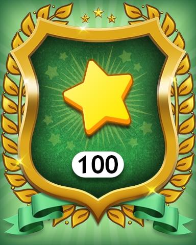 Stars 100 Badge - MONOPOLY Sudoku