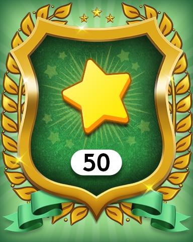 Stars 50 Badge - MONOPOLY Sudoku