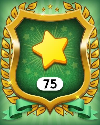 Stars 75 Badge - MONOPOLY Sudoku