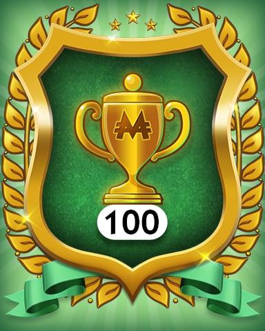 Trophies 100 Badge - MONOPOLY Sudoku