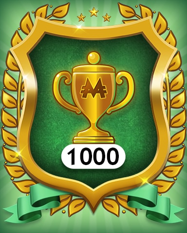 Trophies 1000 Badge - MONOPOLY Sudoku