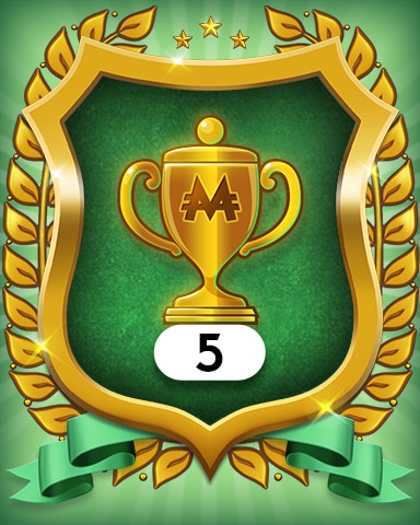 Trophies 5 Badge - MONOPOLY Sudoku