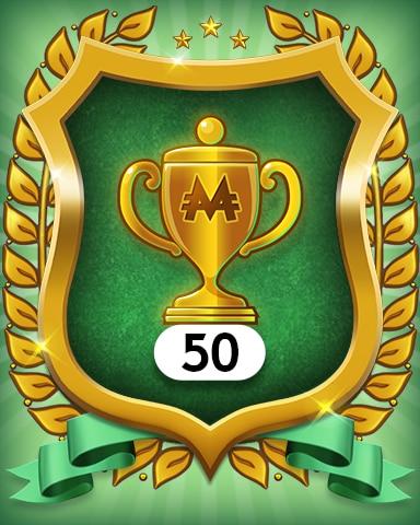 Trophies 50 Badge - MONOPOLY Sudoku