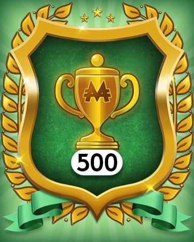 Trophies 500 Badge - MONOPOLY Sudoku