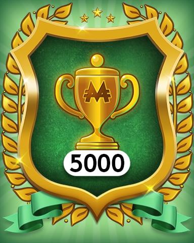 Trophies 5000 Badge - MONOPOLY Sudoku