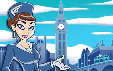 London Coach Badge - Jet Set Solitaire