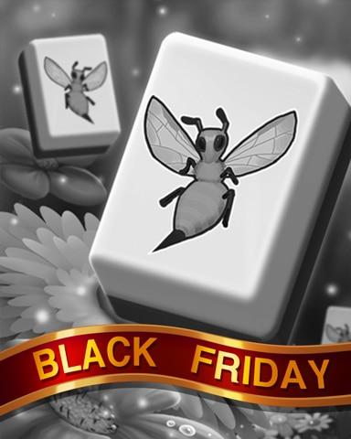 Busy Bee Tiles Black Friday Badge - Mahjong Safari HD