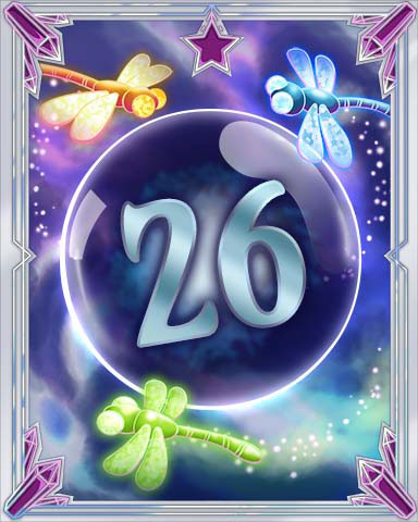 Magic Dragonfly 26 Badge - Mahjong Escape