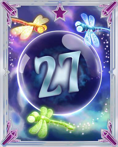 Magic Dragonfly 27 Badge - Mahjong Escape
