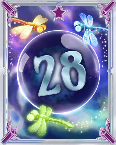 Magic Dragonfly 28 Badge - Mahjong Escape