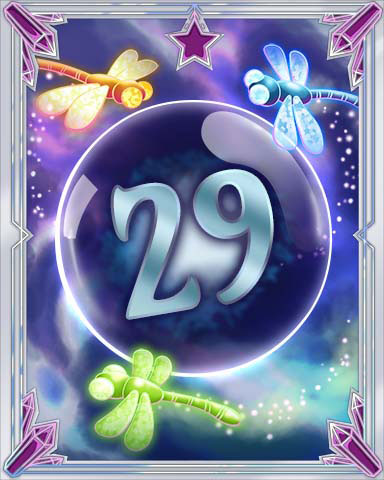 Magic Dragonfly 29 Badge - Mahjong Escape