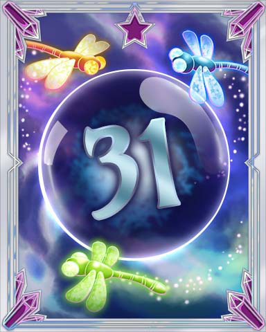 Magic Dragonfly 31 Badge - Solitaire Gardens