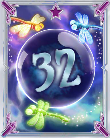 Magic Dragonfly 32 Badge - Solitaire Gardens