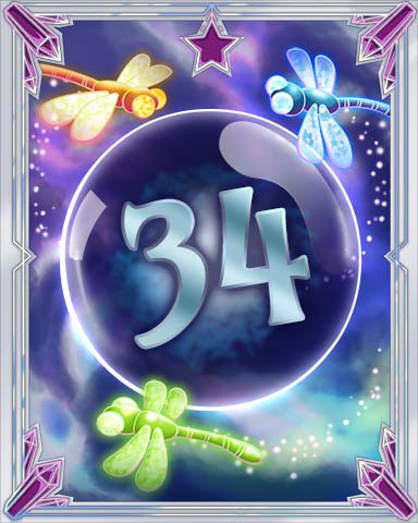 Magic Dragonfly 34 Badge - Solitaire Gardens