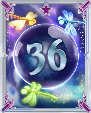 Magic Dragonfly 36 Badge - Solitaire Gardens