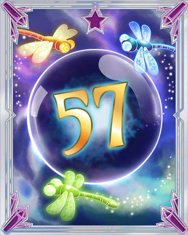 Magic Dragonfly 57 Badge - Tri-Peaks Solitaire HD
