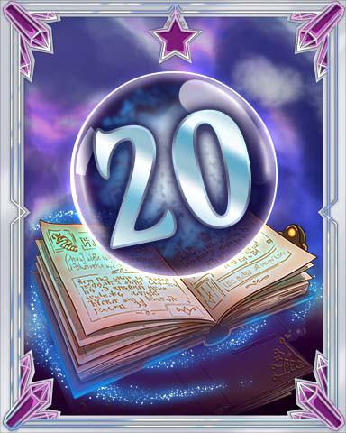 Spellbook Vol. 20 Badge - Solitaire Gardens