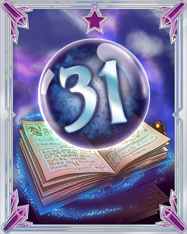 Spellbook Vol. 31 Badge - Jet Set Solitaire