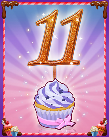 Vanilla Cupcake #11 Badge - Snowbird Solitaire