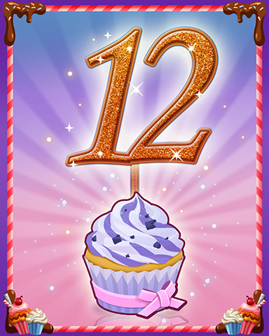 Vanilla Cupcake #12 Badge - Snowbird Solitaire