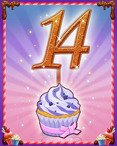 Vanilla Cupcake #14 Badge - Mahjong Sanctuary