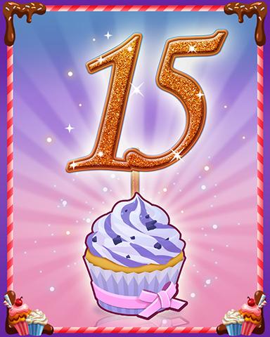 Vanilla Cupcake #15 Badge - Mahjong Sanctuary
