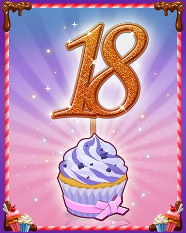 Vanilla Cupcake #18 Badge - Mahjong Sanctuary