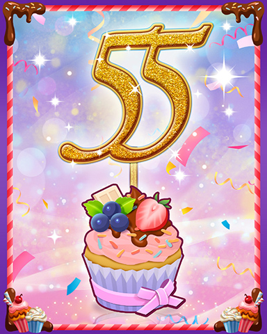 Vanilla Cupcake #55 Badge - Word Whomp HD