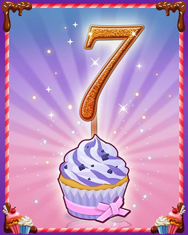 Vanilla Cupcake #7 Badge - Snowbird Solitaire