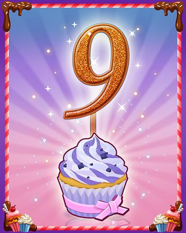 Vanilla Cupcake #9 Badge - Snowbird Solitaire