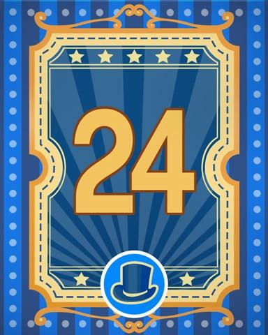 Spike's Showcase 24 Badge - Pogo™ Slots