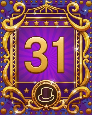 Spike's Spectacular 31 Badge - Pogo Daily Sudoku