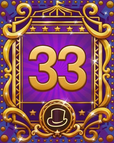 Spike's Spectacular 33 Badge - Pogo Daily Sudoku