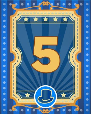 Spike's Showcase 5 Badge - Poppit! Bingo