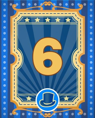 Spike's Showcase 6 Badge - Poppit! Bingo