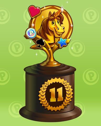 Bjorn To Run Lap 11 Badge - Pogo™ Slots