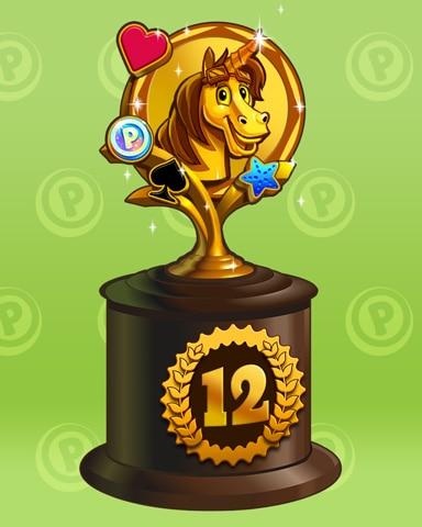 Bjorn To Run Lap 12 Badge - Pogo™ Slots