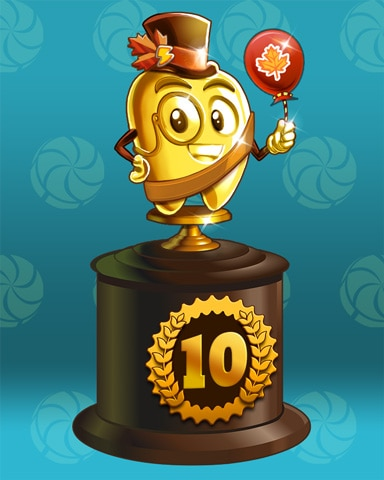 Fall Frenzy Lap 10 Badge - Poppit! Bingo