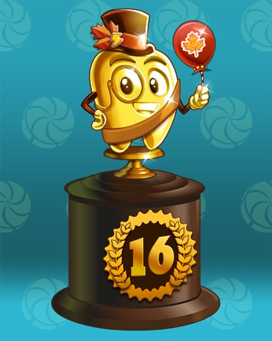 Fall Frenzy Lap 16 Badge - Sweet Tooth Town