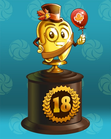 Fall Frenzy Lap 18 Badge - Sweet Tooth Town