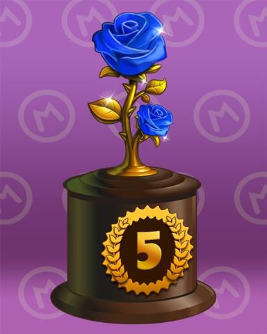 Rosy Race Lap 5 Badge - Trizzle